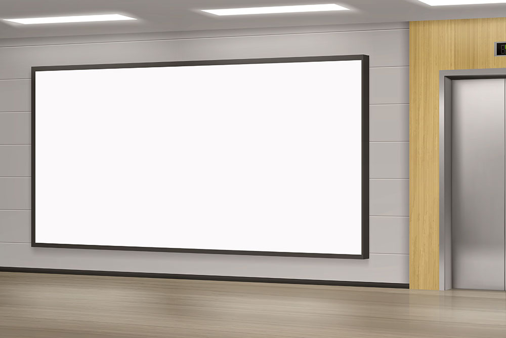 ściana wideo w obudowie