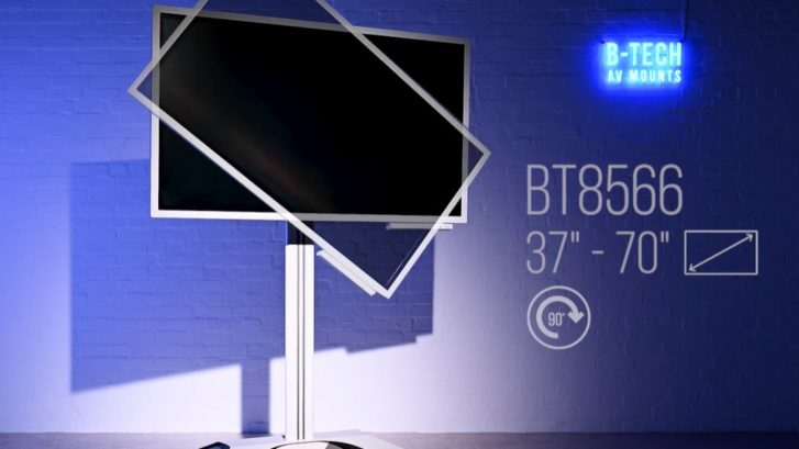 monitor reklamowy na wózku
